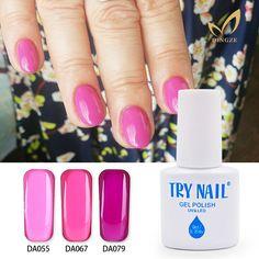 (DA055-84)TRY NAIL Shiny Surface Rose Color Nail Gel Polish Top Quality Charming Long Lasting Soak Off Gel Nail Varnish Manicure