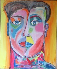 """Two Faces"" Acrylic on canvas"