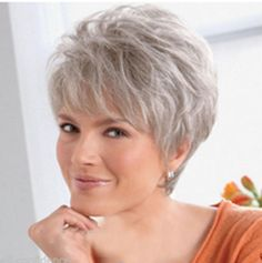 Buy Fashion Women's Medium Short Straight Natural Hair Wigs Full Party (Color: Silver gray) at Wish - Shopping Made Fun Hair Styles For Women Over 50, Short Hair Cuts For Women, Short Hairstyles For Women, Medium Hair Styles, Straight Hairstyles, Curly Hair Styles, Natural Hair Styles, Short Haircuts, Short Grey Hair