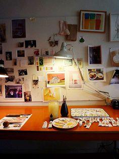 Maira Kalman's Studio. What an inspiration.