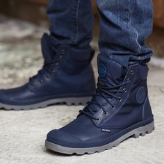 Fancy - Indigo Pampa Sport Cuff Wp2 Boots by Palladium