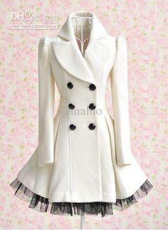 Wholesale Fashion Coats 10099 Cute And Elegant Lace Trim Women's Coat, Free shipping, $79.57-89.68/Piece | DHgate