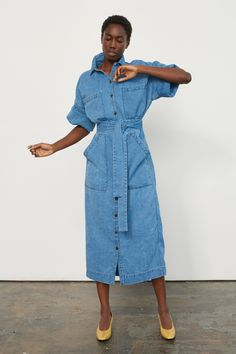 02c61dfb822 Mara Hoffman Midi Shirt Dress