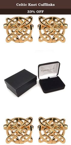 Celtic Knot Cufflinks. Elegantly styled gold plated celtic knot style cufflinks. These measure 5/8ths of an inch in diameter. Presentation boxed.