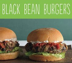Black Bean Burgers | 25 Tasty Hamburger Alternatives That Are Actually Good For You