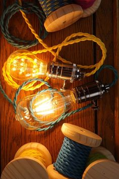 photoshoot day. a new collection of colorful lighting with led edison bulbs…