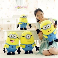 (50CM) 3D Minions Despicable ME 2 Plush Toy 20 Inch Minions Toys & Hobbies One PCS lovely toys for girl gift WJ219/222/225 #>=#>=#>=#>=#> Click on the pin to check out discount price, color, size, shipping, etc. Save and like it!