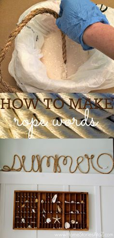 How to make rope words using rope and glue. Create any word you like! Could be cute for Christmas.