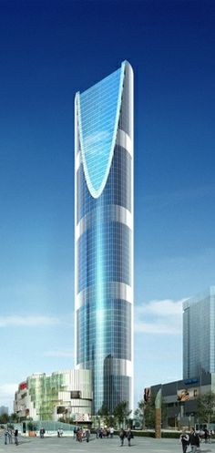 Longement Center Towers, Chengdu, China by HS Architects :: 2 x 67 floors, height 2 x Unusual Buildings, Interesting Buildings, Amazing Buildings, Modern Buildings, Futuristic Architecture, Beautiful Architecture, Interior Architecture, Building Structure, Building Design