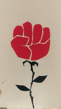 Resistance fist rose I guess. Protest Kunst, Protest Art, Plakat Design, Protest Posters, Propaganda Art, Political Art, Street Art Graffiti, Black Art, Stencils