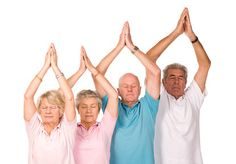 """Why Seniors Should Consider Yoga """"It's no secret that exercise has been shown to improve quality of life, overall health, and longevity for seniors. Yoga as a fitness practice is growing in popularity faster than any other in the last few years. Numerous research studies have shown that seniors can experience a wide range of benefits from Yoga.""""  Read the full post at: http://behappygetfit.wordpress.com/2014/03/19/why-seniors-should-consider-yoga/"""