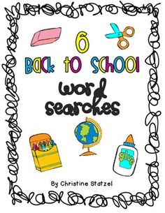 This is a set of 6 back to school word searches. These are great time fillers or just use them as a fun activity at the end of the day! School Tool, Beginning Of The School Year, New School Year, Back To School Activities, Classroom Activities, Classroom Ideas, Classroom Organization, Fun Activities, Classroom Helpers