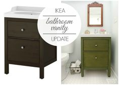 Photography Gallery Sites I updated my Ikea bathroom vanity for the second time because the first one just wasn