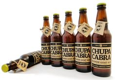 Chupa Cabra Beer by Juan Melendez, via Behance