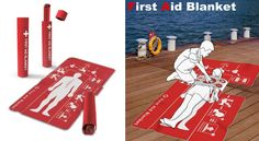 The First Aid Blanket offers clear instructions with regards to dealing with an unconscious victim. Survival Gadgets, Save Life, First Aid, Medicine, Social Media, Health, Anchors, First Aid Kid, Salud