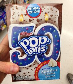 SPOTTED ON SHELVES - Kellogg's Birthday Edition! Flavor Flashback! Frosted Chocolate Vanilla Creme Pop-Tarts
