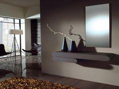 recibidor papel pintado blanco y plata | Decorar tu casa es facilisimo.com