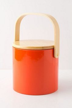 Tangerine ice bucket