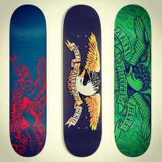 Collection of real nice Anti-Hero Skateboards Graphics