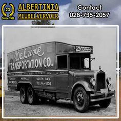Albertinia Meubel Vervoer is a company which prides itself on delivering a. Transportation, Trucks, Furniture, Vintage, Truck, Home Furnishings, Vintage Comics, Arredamento