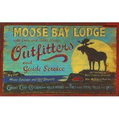 """Vintage Signs Moose Bay Vintage Advertisement Plaque Size: 15"""" H x 26"""" W x 1"""" D"""
