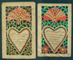 1895 Very Detailed Cut Web Patterned Homemade Valentines