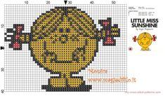 Little Miss Sunshine (Mr.Men) cross stitch pattern - free cross stitch patterns