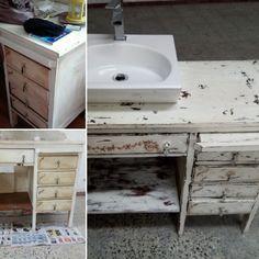 Lavatório - antes e depois