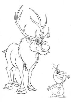 35 free disneys frozen coloring pages printable 1000 free printable coloring pages for kids coloring books - Sven Reindeer Coloring Pages