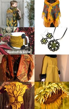 GOLD AUTUMN by SHINE JewelleryWithATouchOfMagic on Etsy--Pinned with TreasuryPin.com