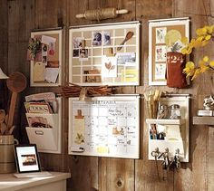 I really ike this wall organizer too, I think this would look great on my kitchen wall.