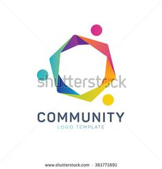 Community logo. Teamwork logo. Social logo. Partnership logo. Communication logo