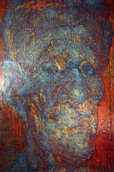 Man from Polis | Oil Paint on Gesso Board | Prepared Plywood | 2013 | Cyprus.