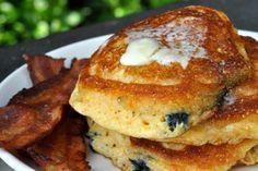 blueberry corn cakes - Scaling Back