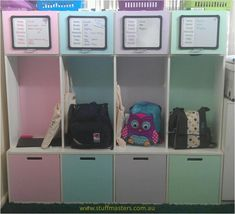 Gallery -  Stuff Masters  Launch Pods to store school and sports gear.