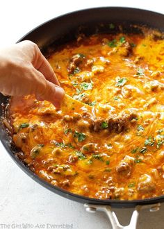 Share Tweet Pin Mail This Beef Enchilada Dip is so easy and feeds a crowd! My motto for the New Year is K.I.S.S. ...