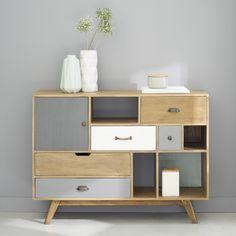 Mix-and-match furniture & decor Mdf Furniture, Diy Furniture Projects, Home Decor Furniture, Shabby Chic Furniture, Modern Furniture, Furniture Design, Retro Sideboard, White Sideboard, Oak Sideboard