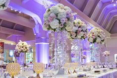 Dramatic purple uplighting used for this Henry Ford Museum Wedding