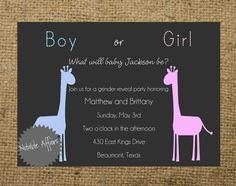 Gender Reveal Invite?