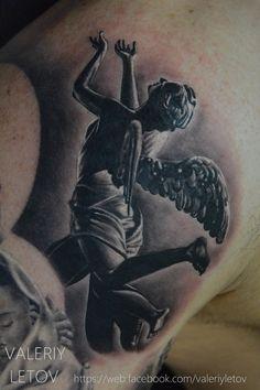 angel tattoo by ValeriyLetov