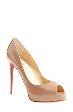 Christian Louboutin 'Prive' Open Toe Pump available at #Nordstrom Santa was not good to me, so I will start working on the 3 wise men.