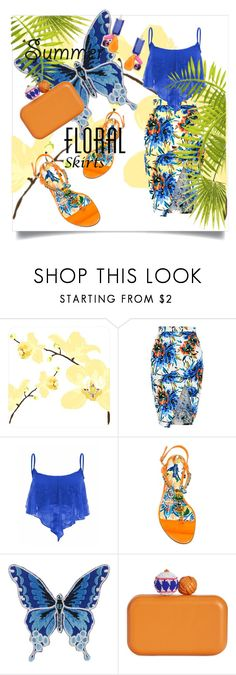 """""""The Perfect Summer Floral Skirt"""" by kari-c ❤ liked on Polyvore featuring New Look, Dolce&Gabbana, Sam Edelman, Trina Turk and Floralskirts"""