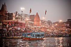 River bank Ganges Varanasi Benaris Holy river door StudioDaniell