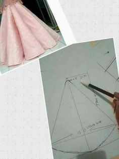 Best 12 Here are all the basic circle skirt patterns. Check out the link for more instructions and variations. Circle Skirt Pattern, Gown Pattern, Techniques Couture, Sewing Techniques, Draping Techniques, Skirt Patterns Sewing, Clothing Patterns, Simple Gowns, Origami Fashion