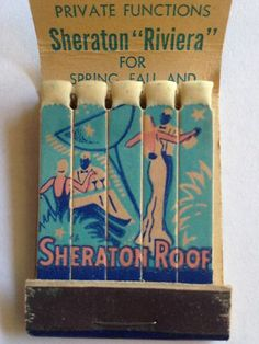 Vtg Feature Matchbook Hotel Sheraton Sheraton Roof Cocktail Boston | eBay