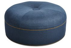 This indigo ottoman ensure you can always put your feet up in style!