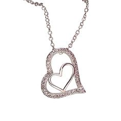 BeOne®Gorgeous Gold-Plated Zircon Double-Heart Pendant Necklace For Wedding Anniversary Valentine's Day BeOne http://www.amazon.com/dp/B015MXVRU6/ref=cm_sw_r_pi_dp_bxrawb0Q9EM43