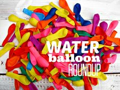 kid craft monday—water balloon summer fun roundup!