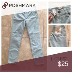 J Crew Pale Teal Toothpick Cut Corduroys ‼️NEW WITH TAGS ‼️NEVER WORN‼️‼️ J.Crew classic toothpick skinny corduroys in a pale teal color are perfect cut and style for the autumn season and upcoming winter. Five pocket design these small waled skinny fit pants will slip perfectly under some distressed riding boots or paired with your favorite ballet flats. Truly a Crew Gal Staple! J. Crew Pants Skinny