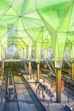 Plans to double size of Moscow greenlit Commercial Design interior for proposed Moscow rail station Architecture Drawings, Amazing Architecture, Landscape Architecture, Interior Architecture, Rendering Architecture, Architecture Diagrams, Interior Stairs, Architecture Portfolio, Apartment Interior